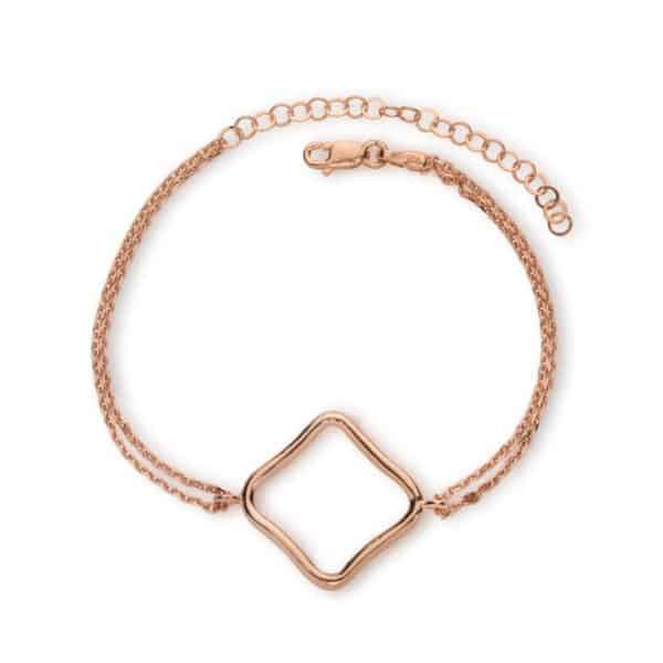 Maviada's Bodrum Bracelet Large in 18ct Rose Gold Vermeil with 22x22mm logo design