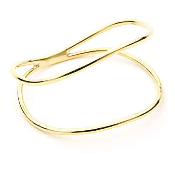 Maviada's Double Curved Bracelet, 18ct Yellow Gold Vermeil - SS18