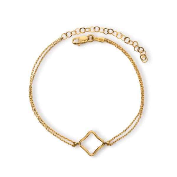 Maviada's Bodrum Bracelet Small in 18ct Yellow Gold Vermeil with 12x12mm logo design