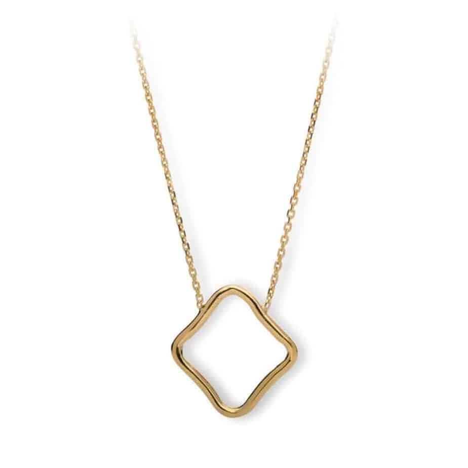 Maviada's Bodrum Necklace Large in 18ct Yellow Gold Vermeil with 20x20mm logo feature