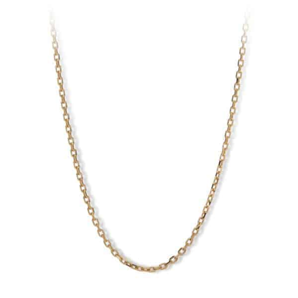 Maviada's Forse chain in 18ct Yellow Gold, 1mm diameter, 80cm length